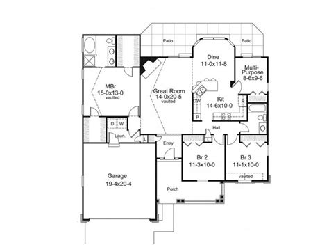 open concept ranch floor plans plan 89845ah open concept ranch home plan home design home