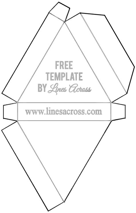triangle packaging template foldable triangle gift box template printable