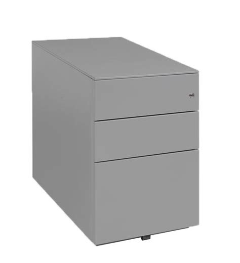 3 Drawer Silver Under Desk Pedestal