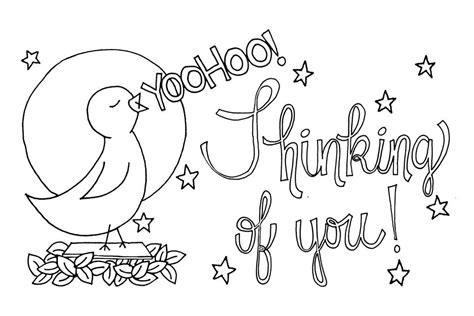 Thinking Of You Coloring Cards Coloring Pages Thinking Of You Coloring Pages