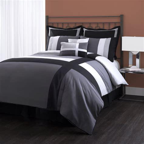 8 piece comforter set queen lush decor isa 8 piece comforter set queen gray black ebay