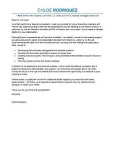 Cover Letter Sle Executive Assistant by Best Executive Assistant Cover Letter Exles Livecareer