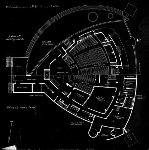 Floor Plan Dwg by Ad Classics Kresge Auditorium Eero Saarinen And