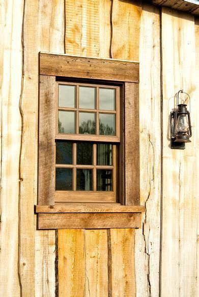 photo  weathered oak window trim window trim