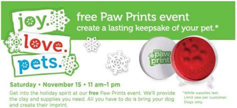 clay paw prints keepsake  petco