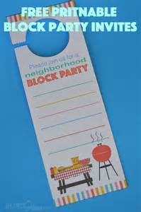 neighborhood block invitation free printable our thrifty ideas