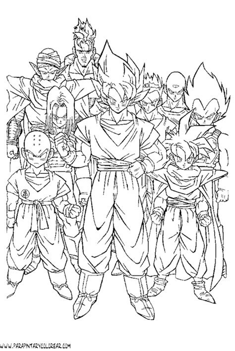 imagenes para colorear de dragon ball z dibujos de dragon ball dragonball para colorear