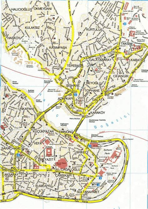 printable map istanbul large istanbul maps for free download and print high