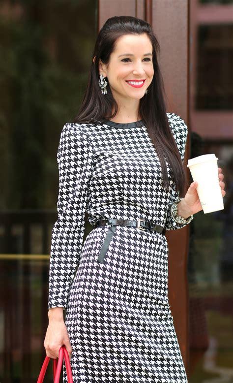 Dress Hounstood devilishly professional sheinside houndstooth print dress