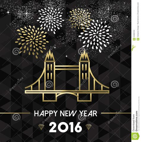 new year cards uk new year 2016 uk tower bridge travel gold stock