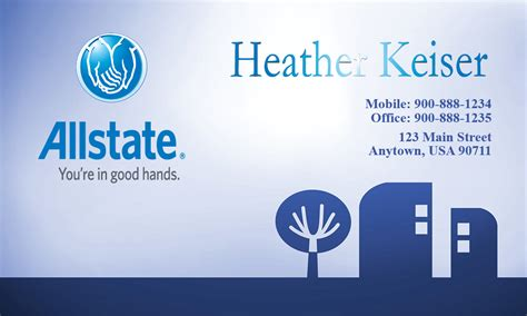 Allstate Insurance Card Template by Blue Allstate Business Card Design 201061