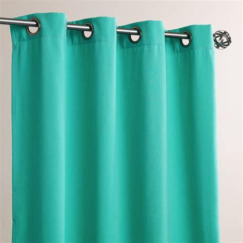 curtains aqua aqua grommet top outdoor curtains set of 2 world market