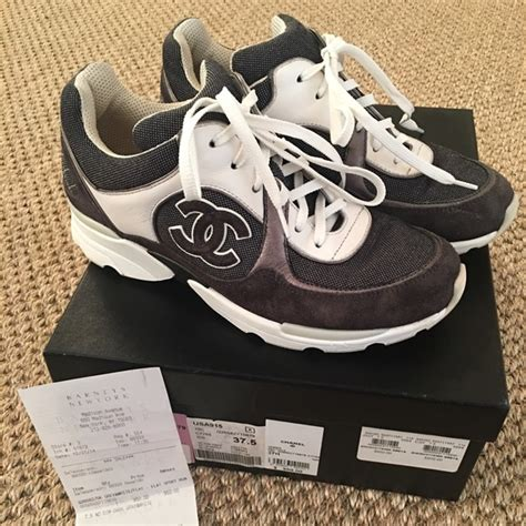 chanel athletic shoes 28 chanel shoes chanel grey white sport