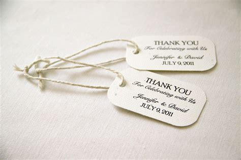 Kitchen Tea Gift Ideas For Guests 150 mini wedding favor gift tags classic thank you