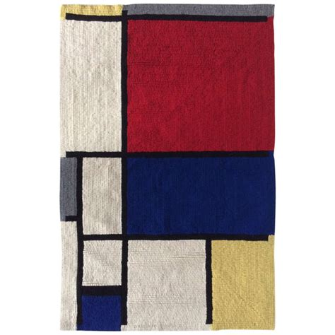 mondrian rug mondrian hooked rug by louis h guidetti for sale at 1stdibs