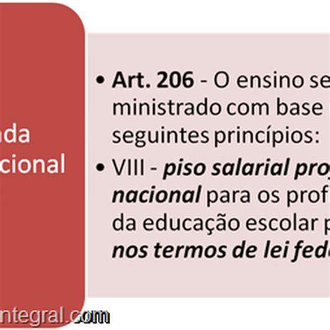 sancionado o piso salarial das piso salarial nacional dos professores da rede p 250 blica