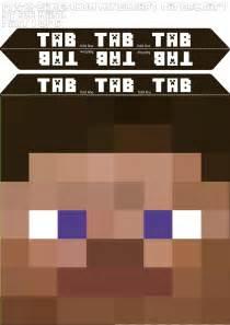 Minecraft Steve Template by Minecraft Steve Mask Template 1 5