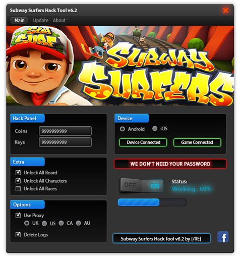 subway surfers hack tool no survey no password new 2015 hack no surveys - Hacker Tool Apk