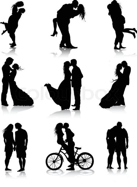 The Lonely Beast Outline by Stock Vector 11 M Images High Quality Images For Web Print Couples Silhouettes