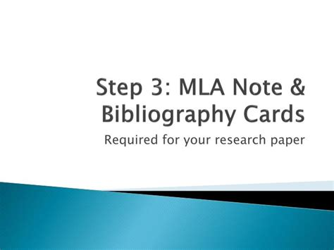 slides note card template for annotated bibliography ppt step 3 mla note bibliography cards powerpoint