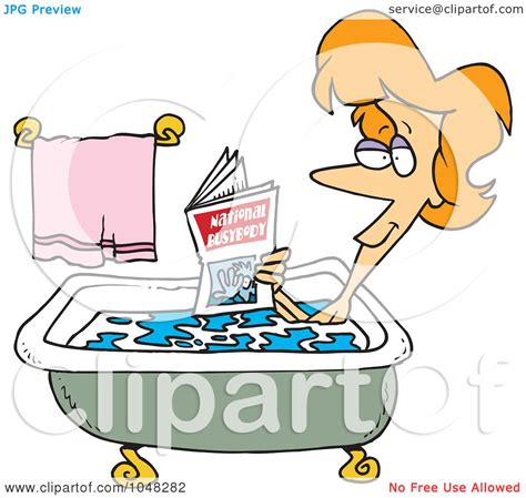 bathtub reading royalty free rf clip art illustration of a cartoon woman