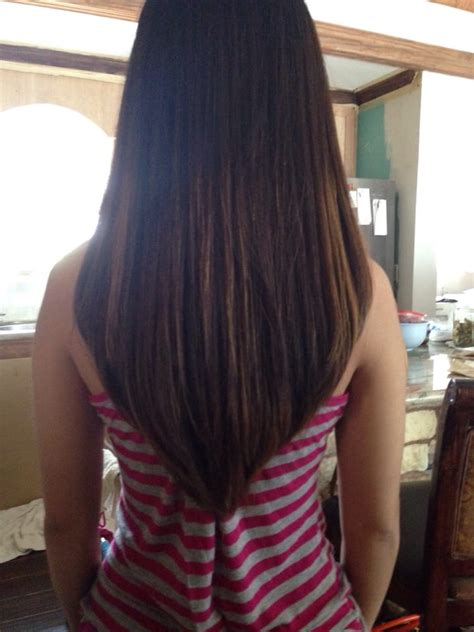 hair cut color beauty indulgence sugar land texas hair cut done by jessica asked for long layers and a v