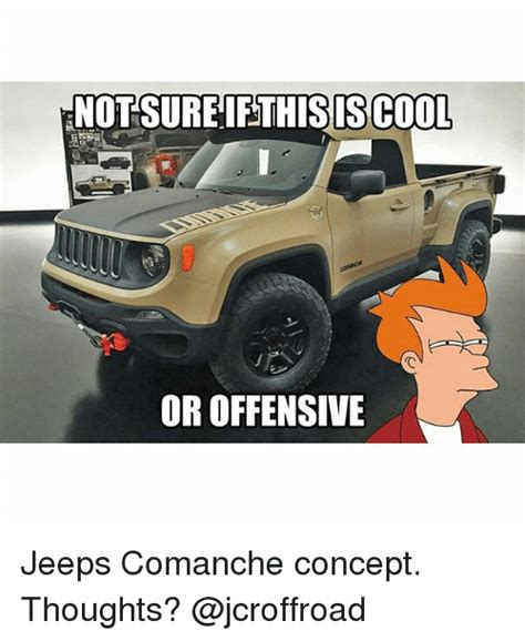 thoughts on jeep comanche not sure if this iscool or offensive jeeps comanche