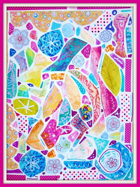 How To Make Mosaic With Paper - painted paper mosaic tutorial marcia beckett