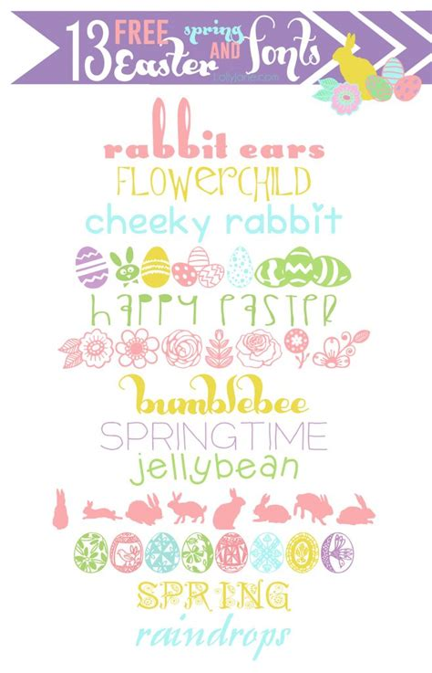 Printable Easter Fonts | 13 free easter and spring fonts