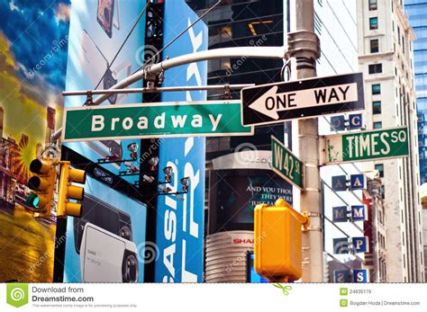 Famous Interior Designers by Broadway New York City Street Sign Editorial Stock Image