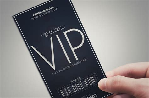 Minimal Style Vip Pass Cards Card Templates On Creative Market Create Vip Passes Templates