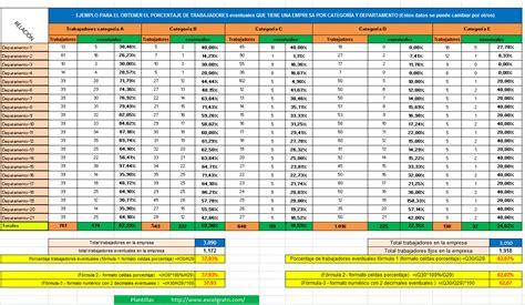 Calcular Calendario Gratis Plantilla Calculo Porcentajes