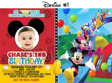 mickey mouse invitations free printable baby mickey mouse