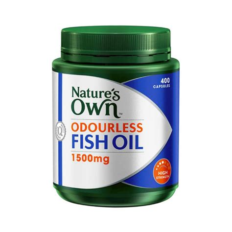 Natures Own Odourless Fish 1000mg 400 Capsules buy natures own high strength odourless fish 1500mg capsules 400 at health chemist