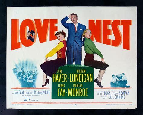 film love nest love nest 1951 orig marilyn monroe movie poster ebay