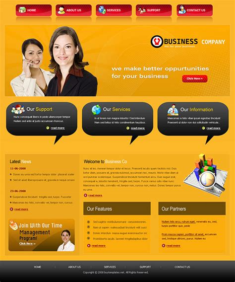 education website templates free html with css html css web templates for business services