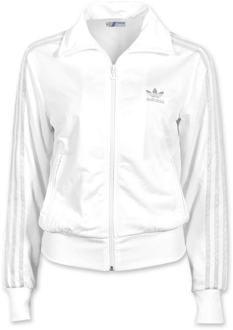 Adidas Logo Firebird TT W jacket white silver