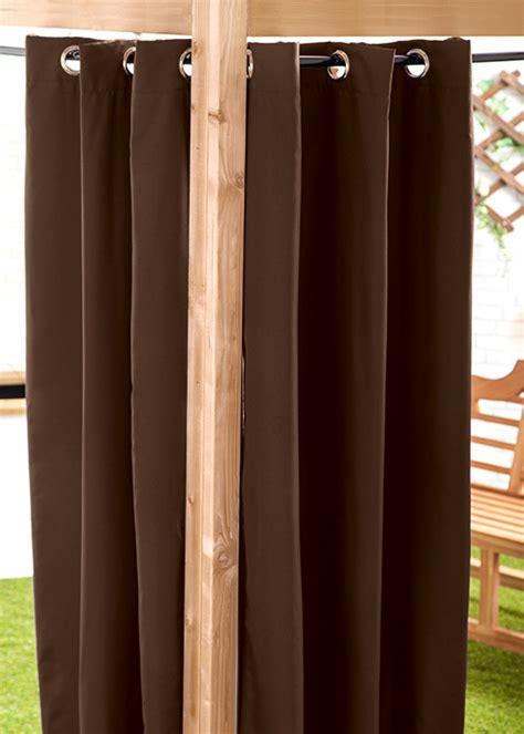 outdoor waterproof curtains waterproof outdoor curtain eyelet panel 55 quot garden d 233 cor
