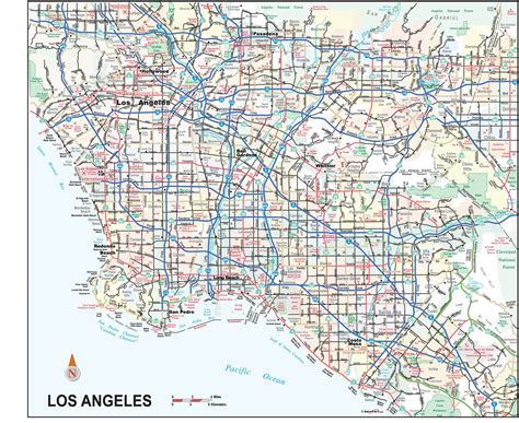 map of los angeles area los angeles city and metro area wall map maps