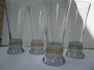 set of 5 centerpiece vases rhinestone vases bling wedding