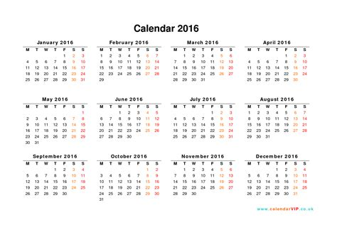 printable yearly calendar 2016 uk calendar 2016 uk free yearly calendar templates for uk