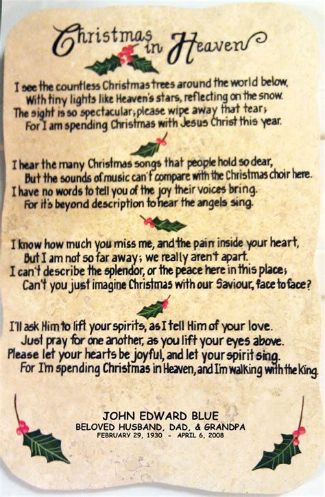 printable christmas in heaven poem christmas in heaven quotes and poems quotesgram