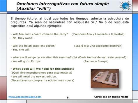 oraciones preguntas con will 1 12 futuro simple en ingl 233 s uso de auxiliar will y forma