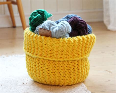 knitted basket pattern knit autumn baskets free patterns grandmother s