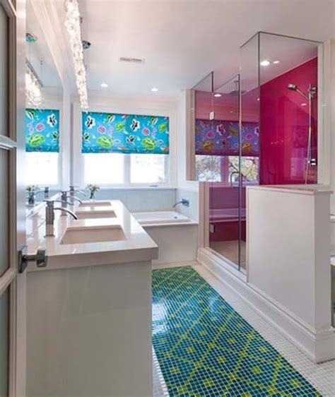 colorful bathroom ideas bright color combinations for interior decorating by holly