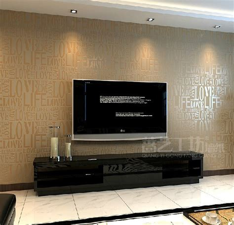 wallpaper for wall behind tv modern alphabet wallpaper waterproof embossed background