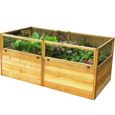 outdoor living today  ft   ft cedar raised garden bed