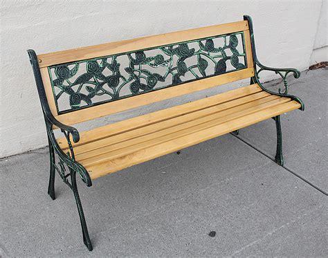 cast iron garden bench wooden bench cast iron rose pattern park bench garden
