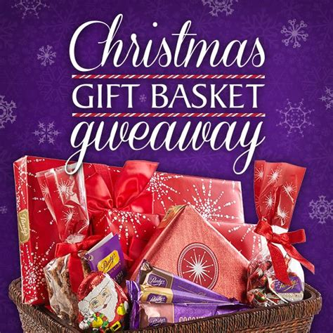 Christmas Gift Giveaways - purdys chocolatier s christmas gift basket giveaway