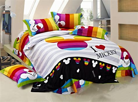 mickey mouse comforter set full 100 cotton kids bedding set king size mickey mouse full